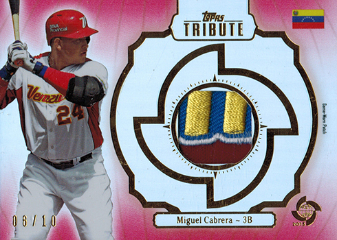 2013 Topps Tribute World Baseball Classic Miguel Cabrera Patch