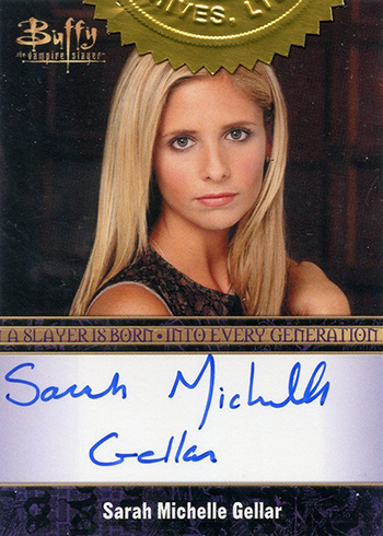 2015 Rittenhouse Buffy the Vampire Slayer Ultimate Collectors Set Sarah Michell Gellar Autograph Bordered