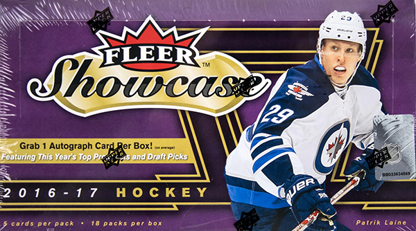 2016-17 Fleer Showcase Hockey Hobby Box