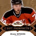 2016-17 Fleer Showcase Hockey Hot Prospects Blake Speers