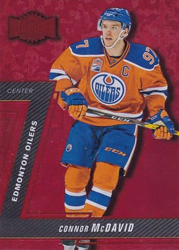 2016-17 Fleer Showcase Hockey PMG Red Connor McDavid