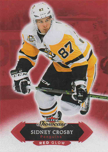 2016-17 Fleer Showcase Hockey Red Glow Sidney Crosby
