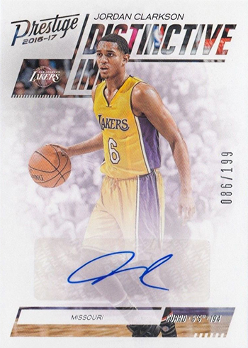 2016-17 Panini Prestige Basketball Distinctive Ink Jordan Clarkson