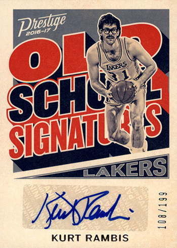 2016-17 Panini Prestige Basketball Old School Signatures Kurt Rambis