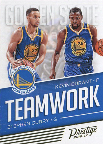 2016-17 Panini Prestige Basketball Teamwork Stephen Curry Kevin Durant