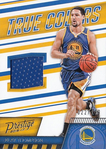 2016-17 Panini Prestige Basketball True Colors Klay Thompson