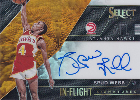 2016-17 Select Basketball In Flight Autographs Orange Prizm Spud Webb