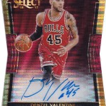2016-17 Select Basketball Rookie Die-Cut Autographs Pulsar Denzel Valentine
