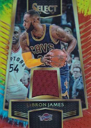 2016-17 Select Basketball Select Swatch Tie-Dye Prizm LeBron James