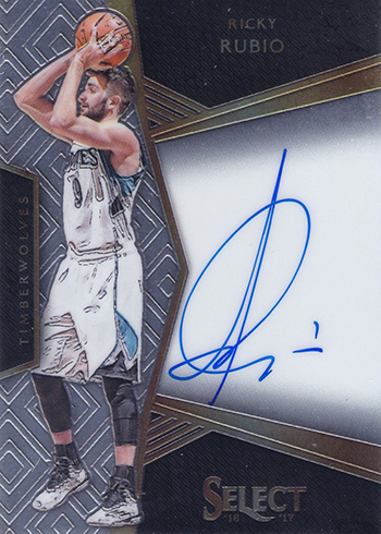 2016-17 Select Basketball Signatures Ricky Rubio
