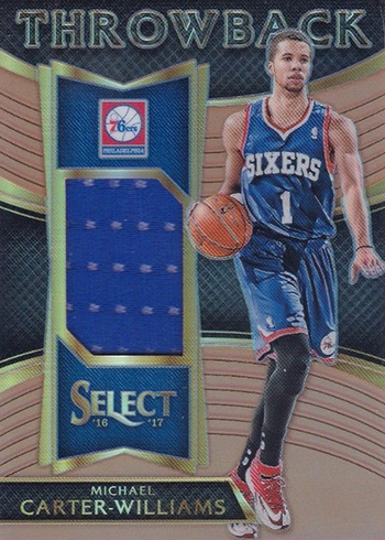 2016-17 Select Basketball Throwback Memorabilia Copper