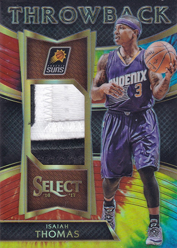 2016-17 Select Basketball Throwback Memorabilia Tie-Dye Prizm