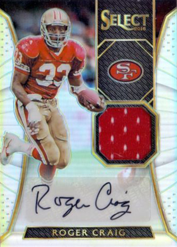 2016 Select Football Autographed Materials Prizm Roger Craig