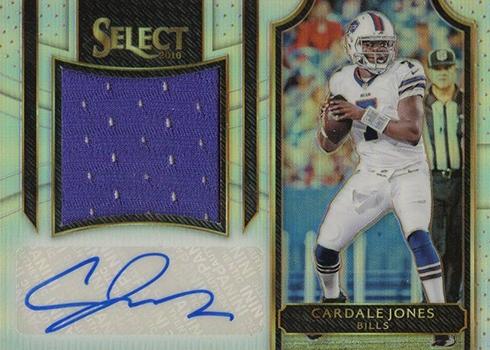 2016 Select Football Jumbo Rookie Signatures Cardale Jones