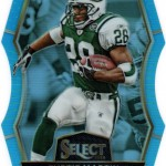 2016 Select Football Prizm Light Blue Die Cut Curtis Martin