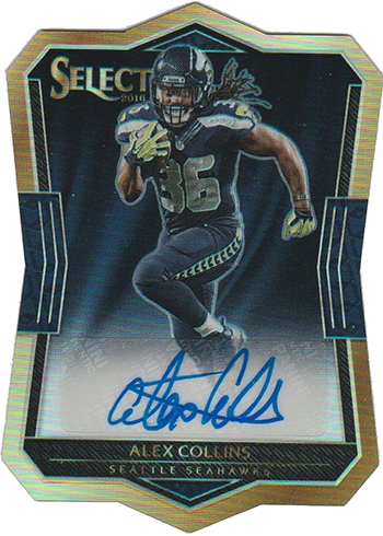 2016 Select Football Rookie Die-Cut Signature Prizms