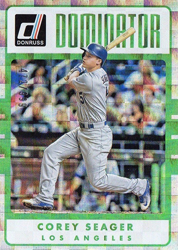 2017 Donruss Baseball Dominators Corey Seager