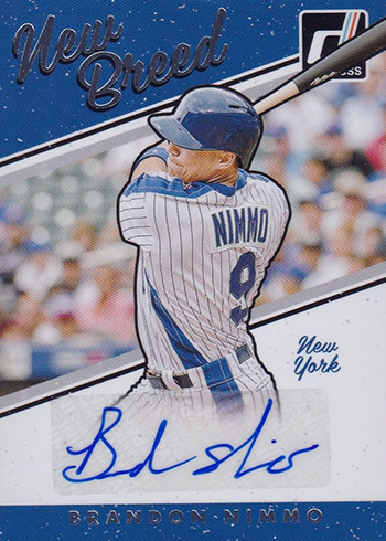 2017 Donruss Baseball New Breed Autographs Nimmo