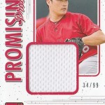 2017 Donruss Baseball Promising Pros Materials Gold Seung-Hwan Oh