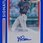 2017 Donruss Baseball Signature Series Andrew Benintendi