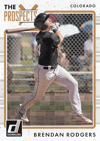 2017 Donruss Baseball The Prospects Brendan Rodgers