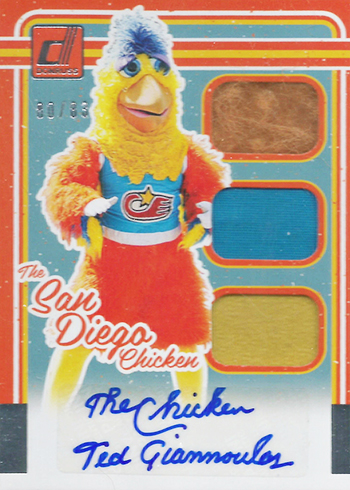 2017 Donruss San Diego Chicken Autographs Full