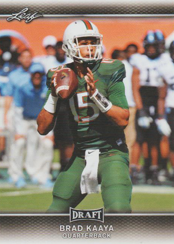 2017 Leaf Draft Football Base Brad Kaaya