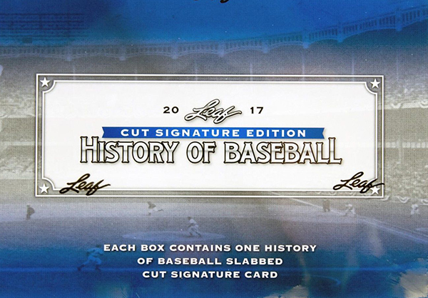 2017 Leaf History of Baseball Cut Signature Edition Box