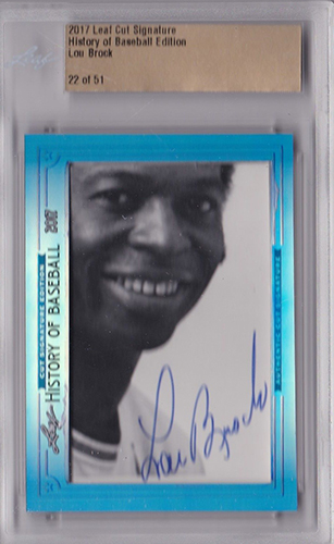 2017 Leaf History of Baseball Cut Signature Edition Lou Brock