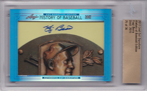 2017 Leaf History of Baseball Cut Signature Edition Yogi Berra Autograph