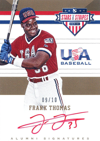 2017 Panini Stars and Stripes Baseball Alumni Signatures Red Ink Frank Thomas