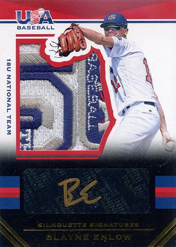 2017 Panini Stars and Stripes Baseball Silhouette Signatures Blayne Enlow 10
