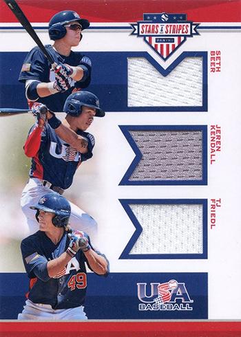 2017 Panini Stars and Stripes Baseball Trios Materials