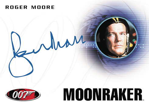 2017 Rittenhouse James Bond Archives Autographs Roger Moore