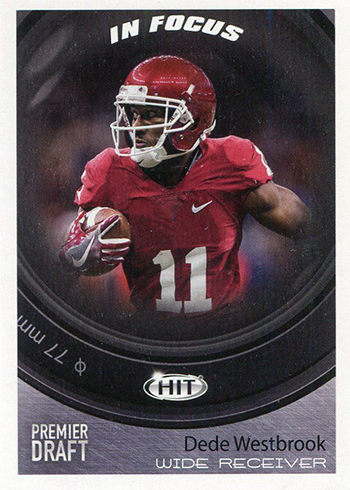 2017 SAGE Hit Premier Draft Low Series Football Base In Focus Dede Westbrook