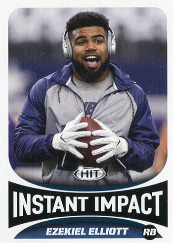 2017 SAGE Hit Premier Draft Low Series Football Base Instant Impact Ezekiel Elliott