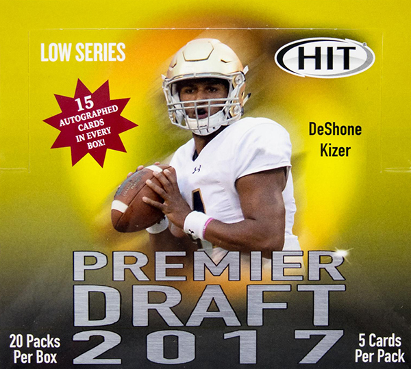 2017 SAGE Hit Premier Draft Low Series Football Hobby Box