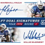 2017 Score Football Draft Dual Signatures
