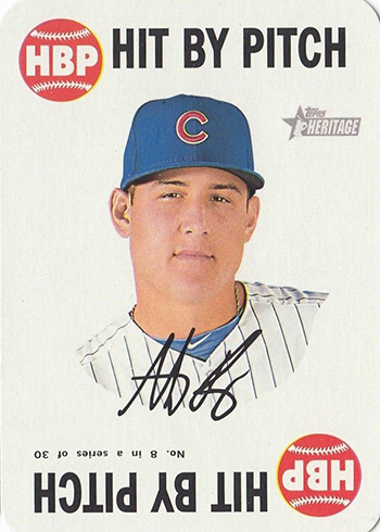 2017 TH Baseball 1968 Topps Game Anthony Rizzo