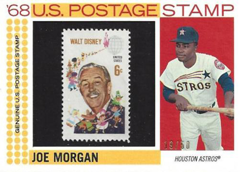 2017 TH Baseball 1968 US Postage Stamp Joe Morgan
