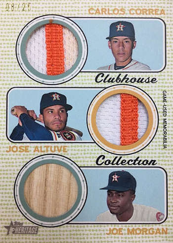 2017 TH Baseball CLubhouse Collection Triple Relic