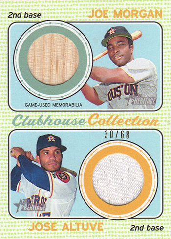 2017 TH Baseball Clubhouse Collection Dual Relic Morgan Altuve