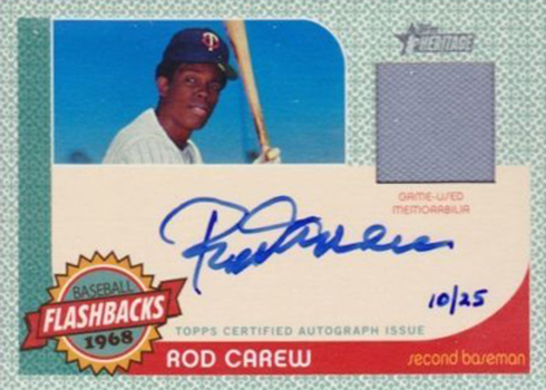 2017 TH Baseball Flashback Autograph Relic Rod Carew