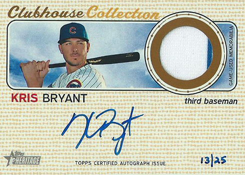 2017 TH Clubhouse Collection Autograph Kris Bryant