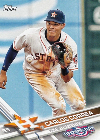 2017 Topps Opening Day Variations 197 Carlos Correa