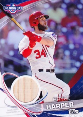 2017 TOD Opening Day Relic Bryce Harper