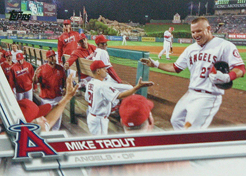 2017 TOD Var 75 Mike Trout dugout
