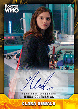 2017 Topps Doctor Who Signature Series Jenna Coleman Autograph feature