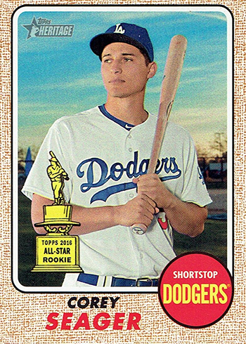 2017 Topps Heritage 440 Corey Seager Front