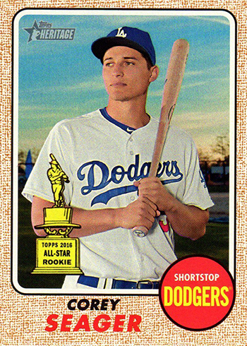 2017 Topps Heritage Bright Yellow Back Corey Seager Front